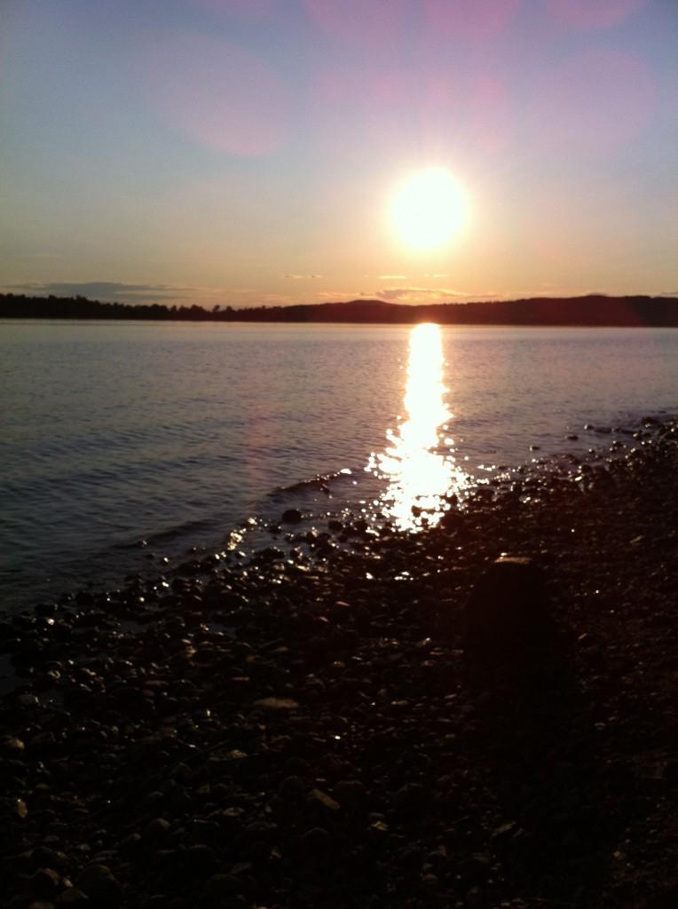 Solnedgång över Siljan